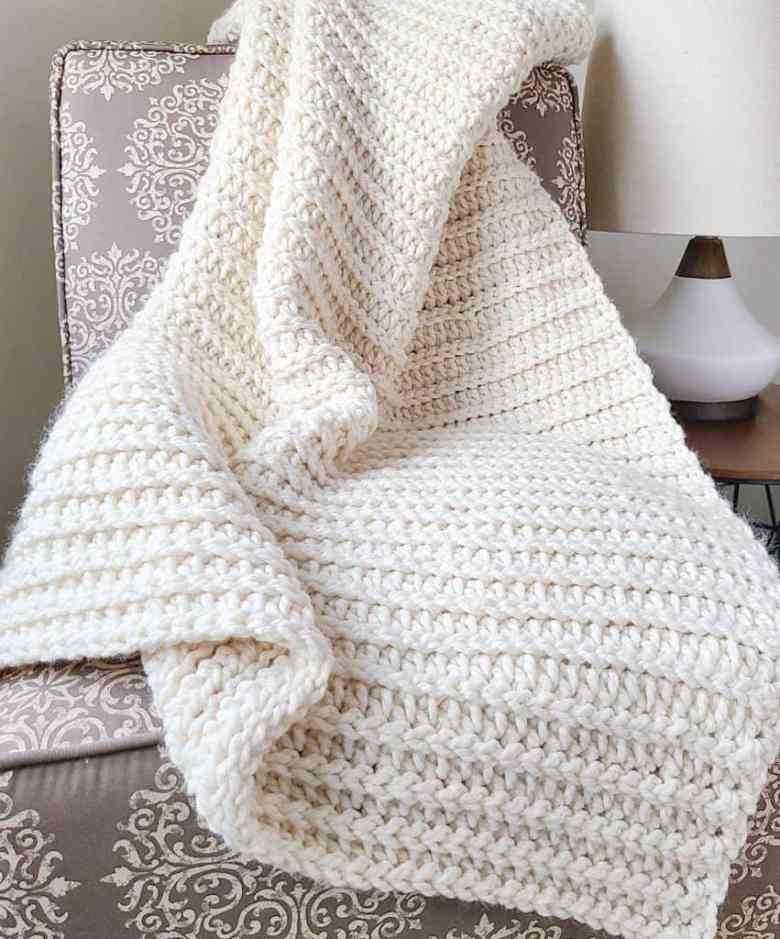 Wool Ease Thick & Quick Blanket Pattern