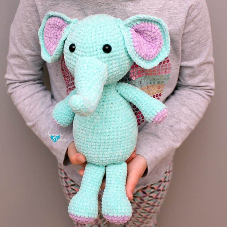 crochet elephant amigurumi - crochet gift for kids
