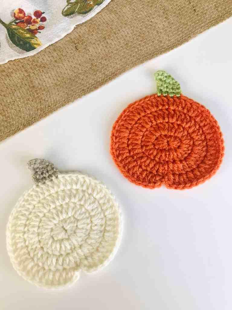 Pumpkin Crochet Coaster Pattern Free