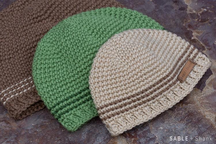crochet striped beanie - teenage boys gift