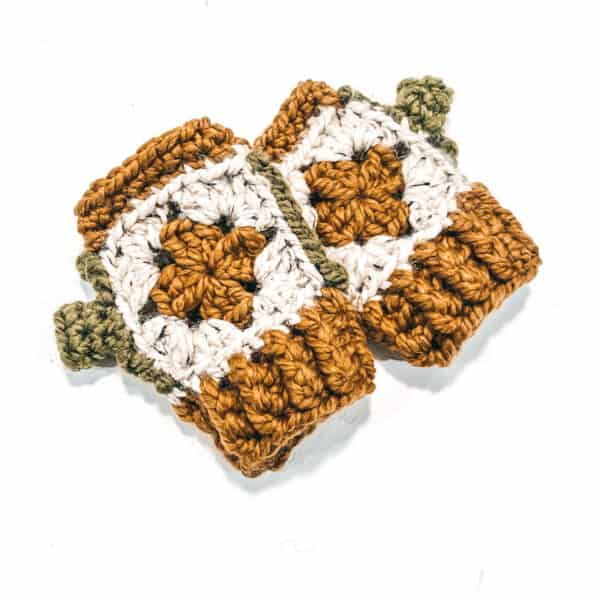 crochet granny square gloves