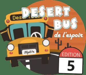 Logo du Desert Bus de l'Espoir - 5ème année
