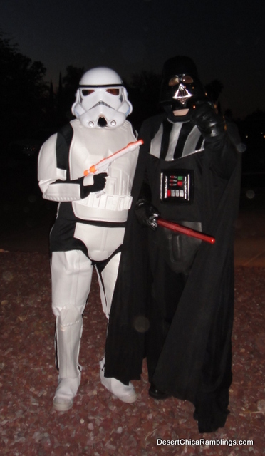 Storm Trooper and Darth Vader Costumes