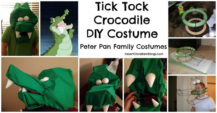 Tick Tock Crocodile Peter Pan DIY Costume