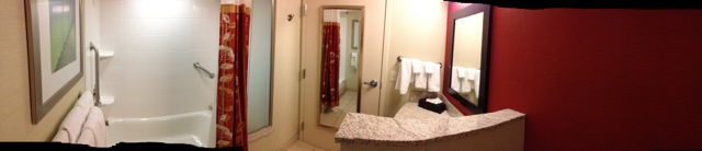 Large Courtyard Bathroom