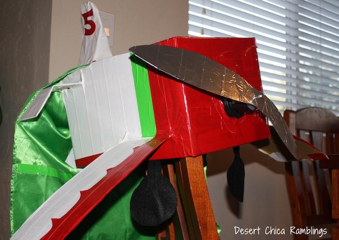 Homemade El Chupacabra Plane Costume