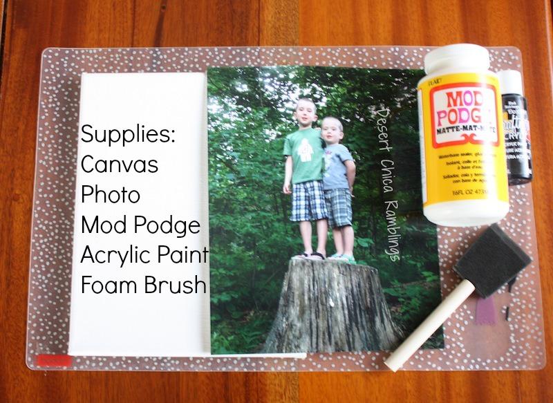 DIY Photo Canvas Supplies