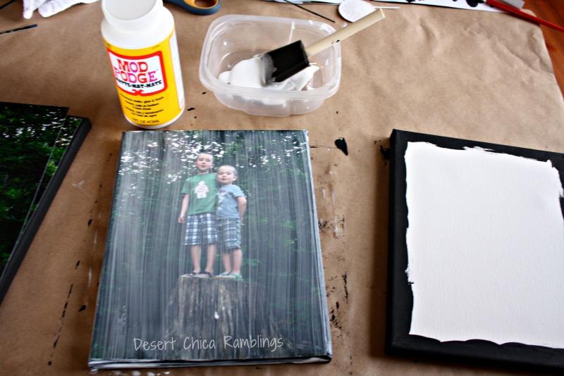 diy photo canvas gift