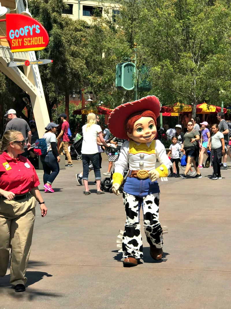 You might run into Jessie at Disney California Adventure during Rodeo Break