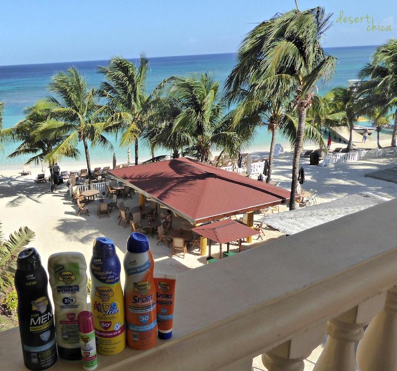 Banana Boat Sunscreen in Roatan #shop