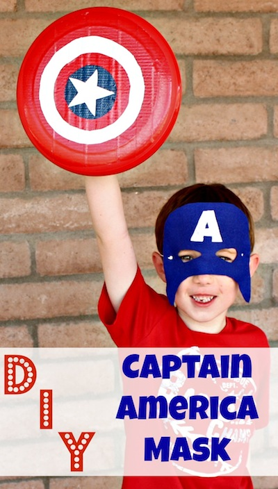 DIY Captain America Mask with Printable Template