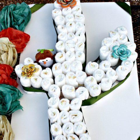 Cactus Diaper Cake