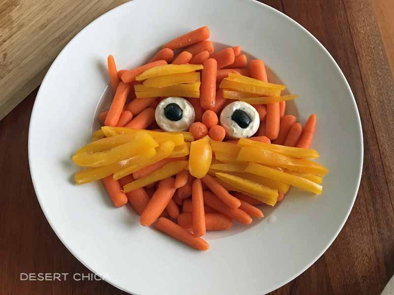 Fun Dr. Seuss Party Food idea - The Lorax Veggie Tray