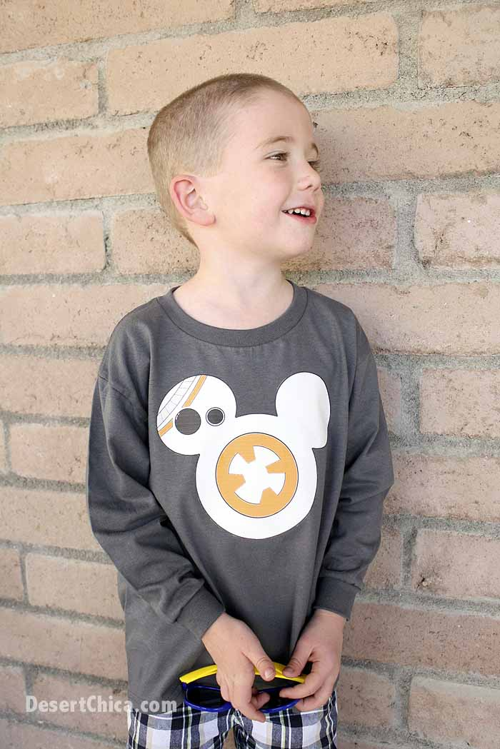 DIY BB-8 Shirt from Star Wars: The Force Awakens