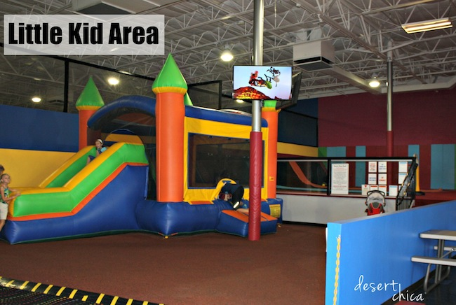 Little Kid Area at AZ Air time Birthday Party