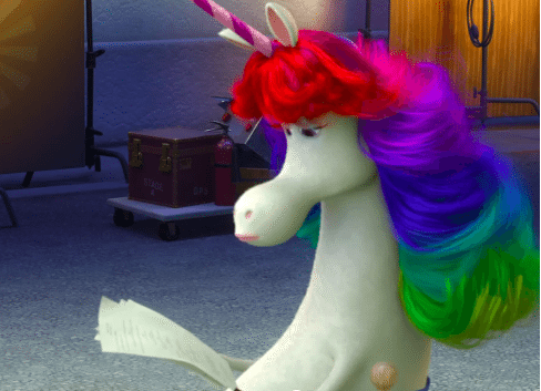 Rainbow Unicorn Character