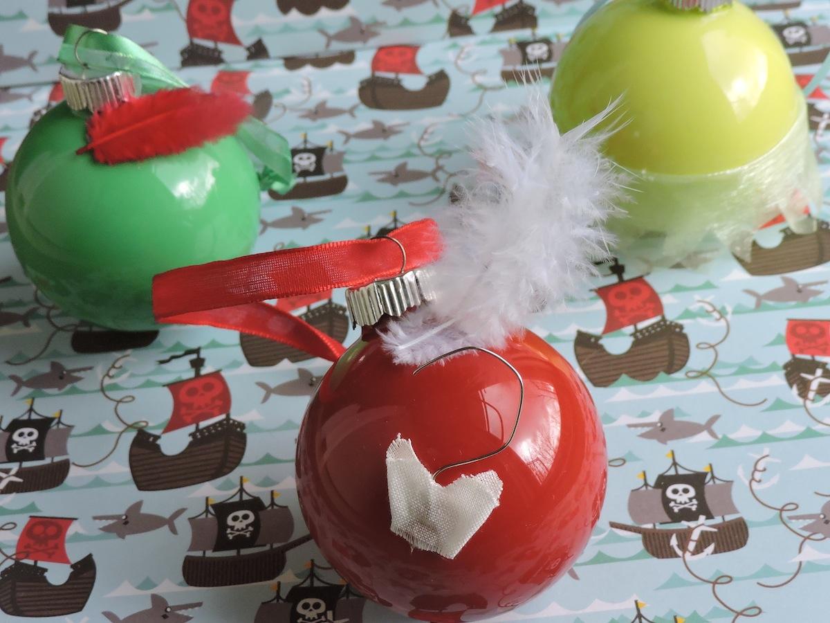DIY Peter Pan themed Christmas Ornaments