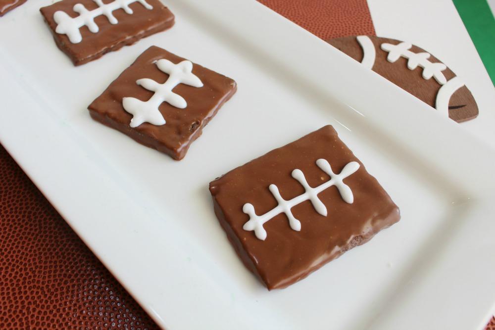 Chocolate Football Graham Cracker Dessert Idea