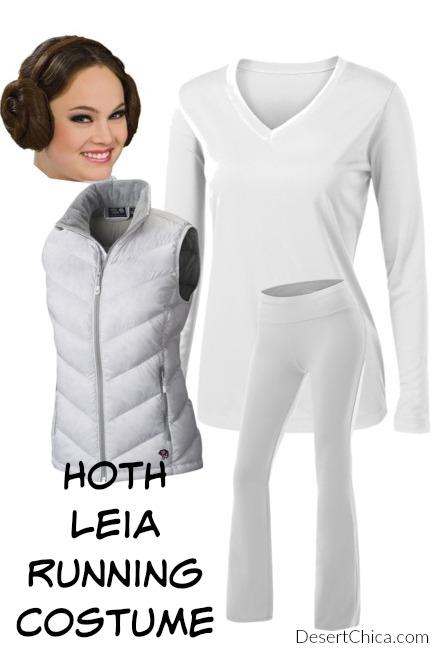 Easy Hoth Leia Running Costume idea