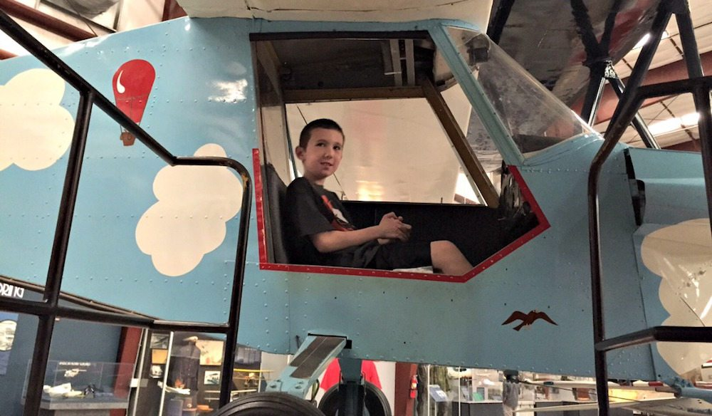 Kid Friendly exhibits at the Pima Air & Space Museum in Tucson