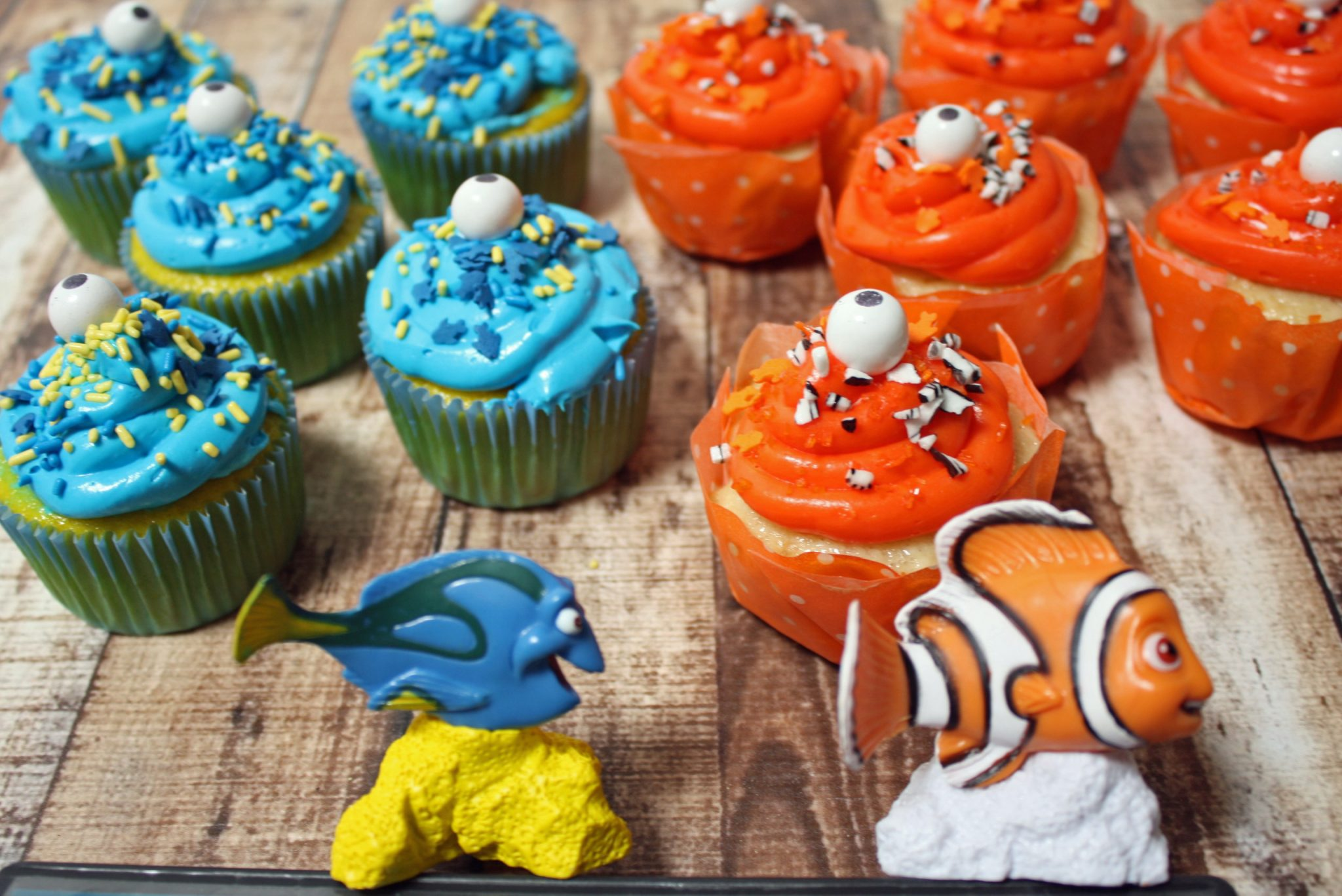 Finding Dory and Nemo Cupcakes