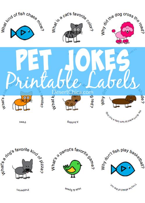 Printable Pet Jokes