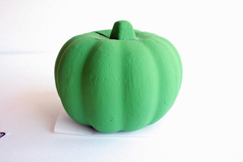 painting-foam-pumpkin-green-for-petes-dragon-pumpkin
