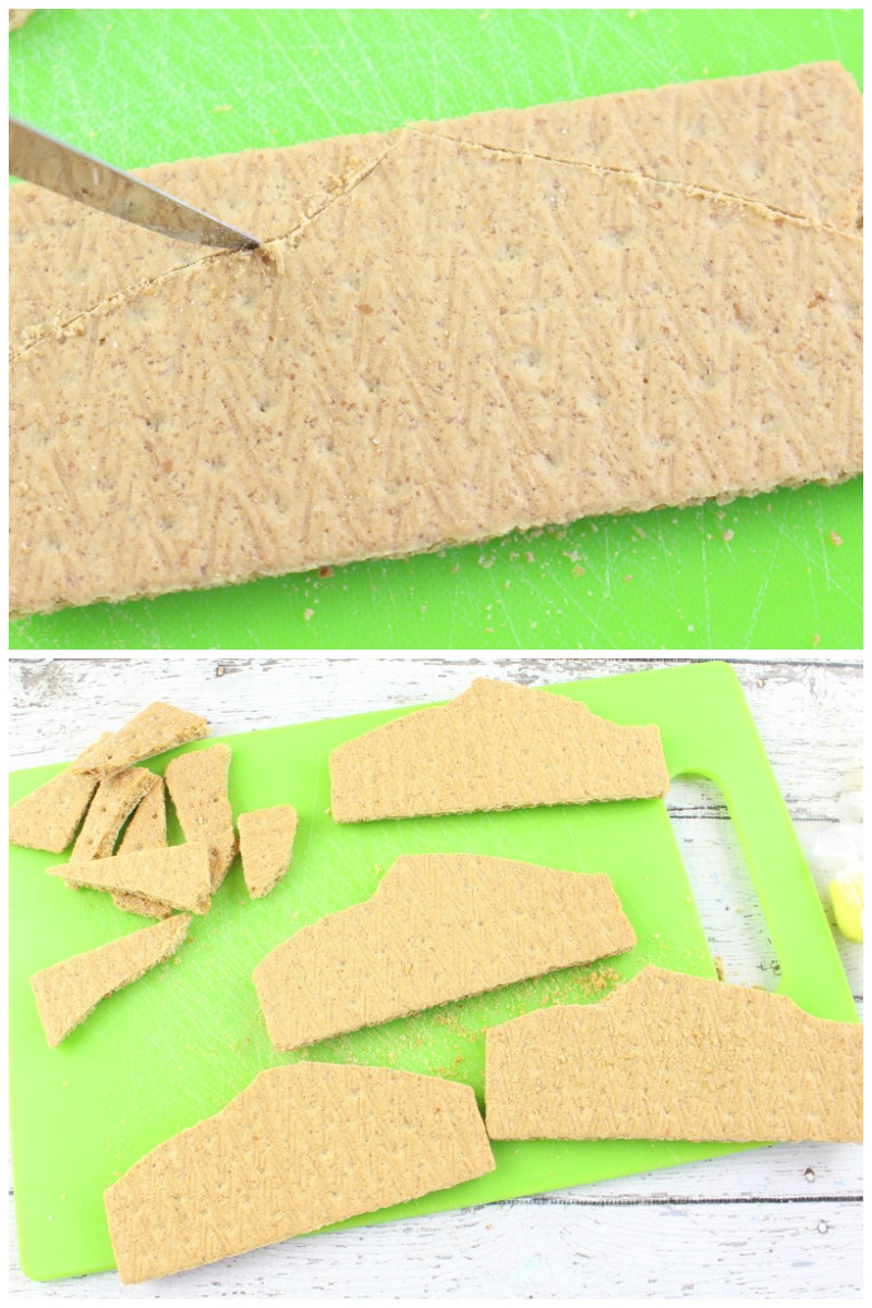 How to make Lightning McQueen Graham Cracker Treats