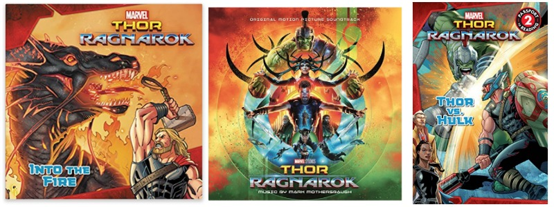 Thor Ragnarok Book and Soundtrack