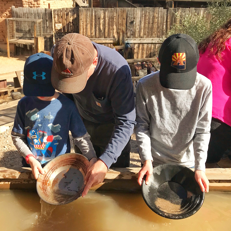 Panning for gold at Old Tucson Studios With Kids