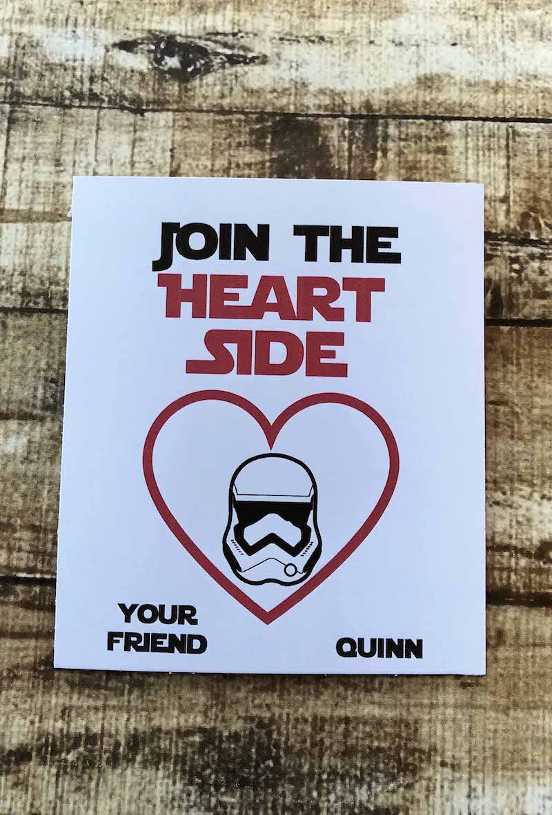 Join the Heart Side Star Wars Valentines Cards