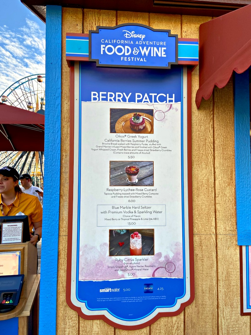 Berry Patch Booth at 2020 Disney California Adventure Food and Wine Festival