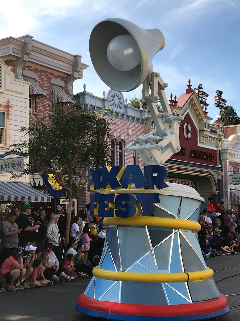 Watch the Pixar Lamp lead the new Pixar Play Parade on a Pixar Fest Scavenger Hunt at Disneyland