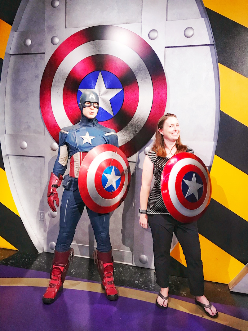 Captain American Marvel Superheroes exhibit at Madame Tussauds Hollywood