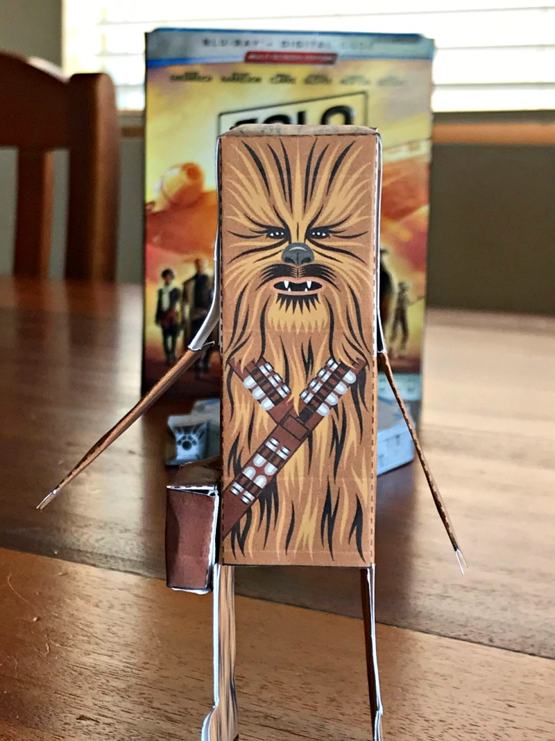 Free Chewbacca Star Wars Paper Craft printable
