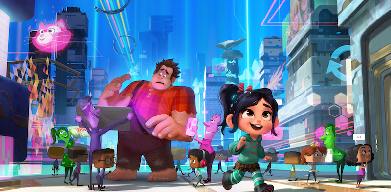 Vanellope and Ralph head on an adventure to save her game Sugar Rush