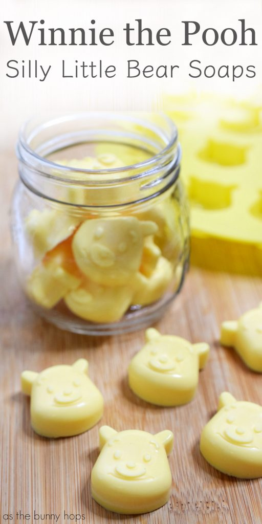 Silly little bear soaps for Winnie the Pooh party favors