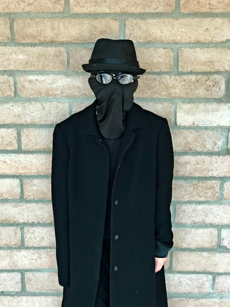 Homemade spider-man noir costume from into the spiderverse