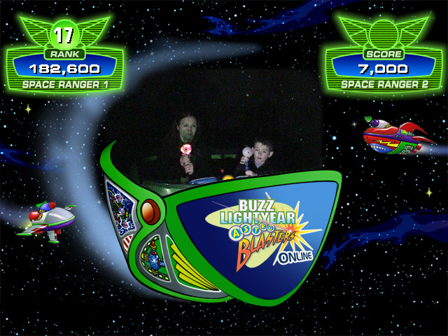 Email yourself a picture after riding Buzz Lightyear Astro Blasters for Toy Story Scavenger Hunt at Disneyland