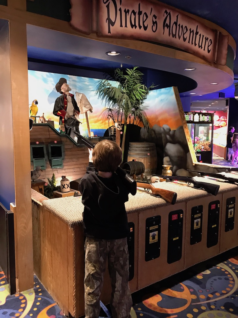 Pirate shooting game at the fun dungeon arcade