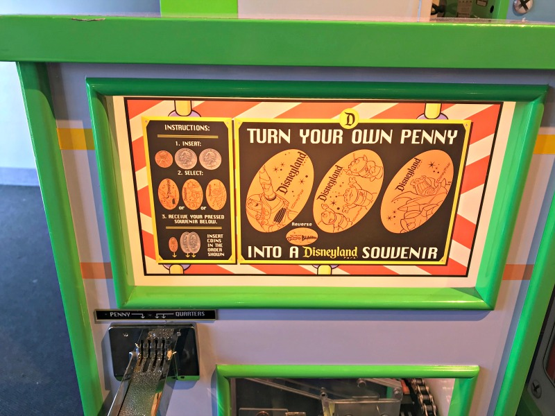 Toy Story Pressed Penny Machine for Scavenger Hunt at Disneyland
