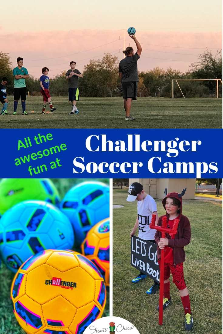 Why should you attend a Challenger International Soccer Camp? Because you learn soccer skills and it's fun! During a week-long summer camp, kids play games and activities. Homework may even include making a costume?! What?! Click through to read more about this half-day summer camp option available nationwide.