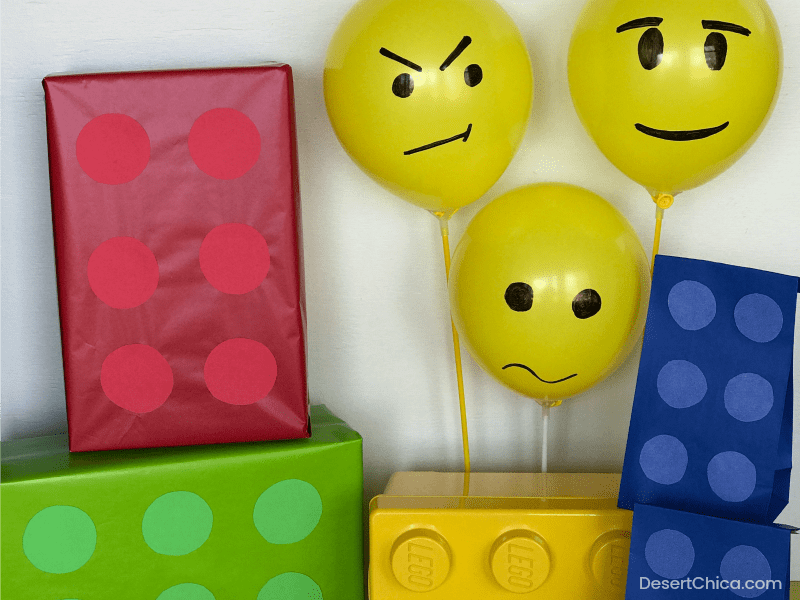 LEGO themed birthday party decorations