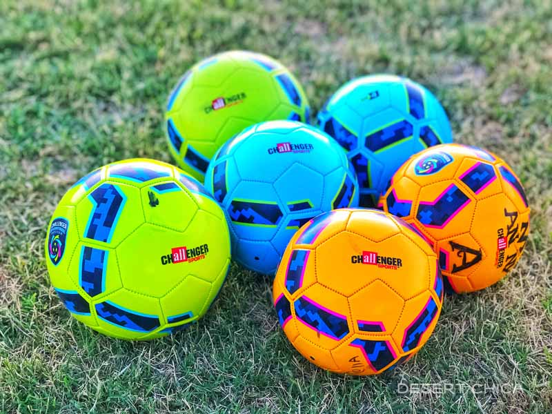 6 different soccer balls