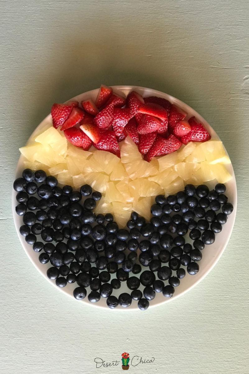 Fruit Tray inspired by superhero Captain Marvel