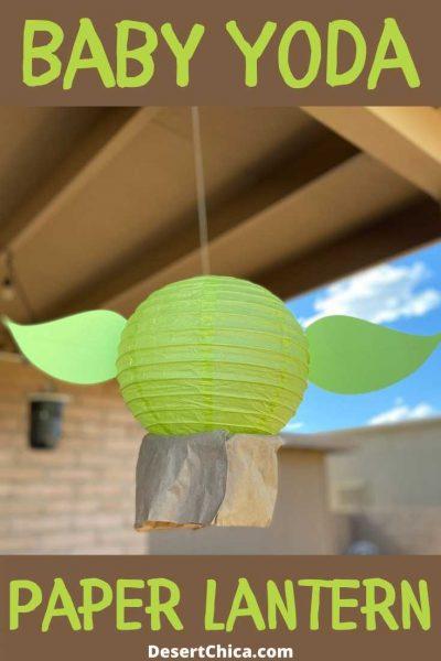 Baby Yoda Paper Lantern