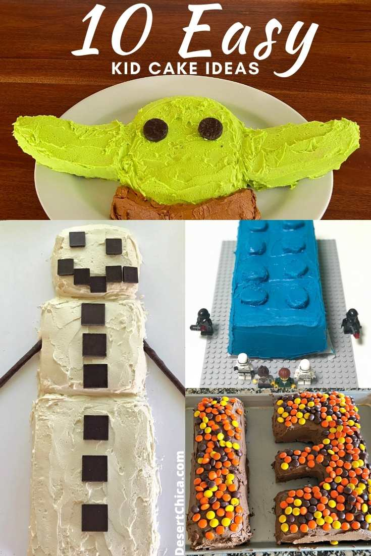 Different birthday cakes for kids