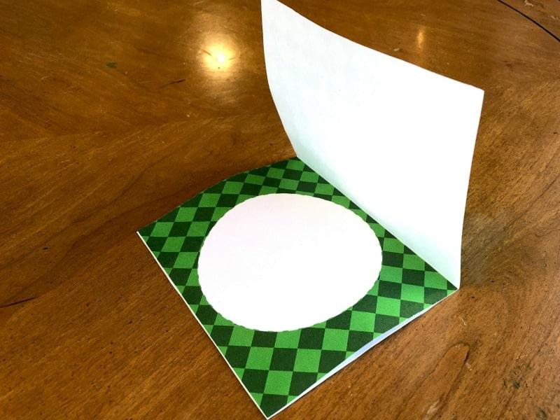 printed green base of Christmas Card