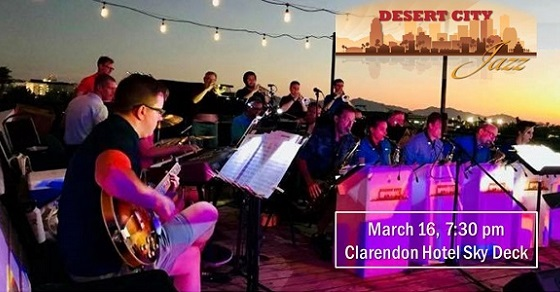 Tickets on sale now for Desert City Jazz at the Clarendon – March 16