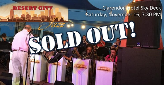 Desert City Jazz at the Clarendon is now Sold Out